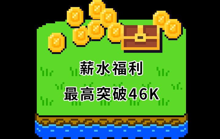 薪水福利最高突破46K